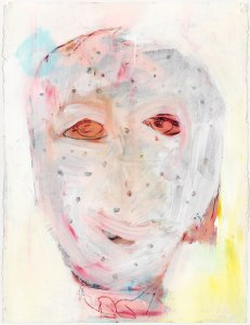 Boy with Chicken Pox, 2013, ink and acrylic on paper, 30_ x 22_